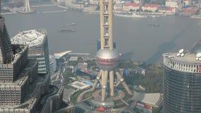 oosterse pareltoren in Shanghai stock video