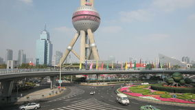 oosterse pareltoren in Shanghai stock footage