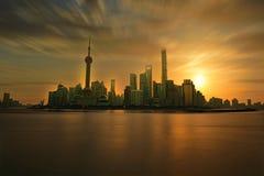 Oosterse pareltoren, van het de wereld financieel centrum van Shanghai jinmaoslepen Royalty-vrije Stock Fotografie