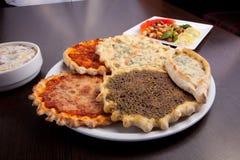 Oosterse pizzaplaat Stock Afbeelding