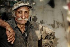 Oosterse portait van een landbouwer/een arbeider in plaats Stock Afbeeldingen