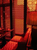 Oosterse rode ruimte Royalty-vrije Stock Afbeelding