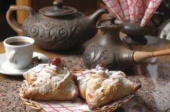 Oosterse snoepjes en koffie royalty-vrije stock foto's