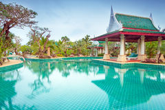 Oosterse stijlarchitectuur in Thailand Royalty-vrije Stock Afbeelding
