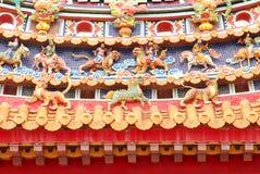 Oosterse tempeldecoratie stock fotografie
