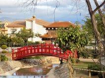Oosterse tuin-Alhaurin-DE-La-Torre stock afbeeldingen