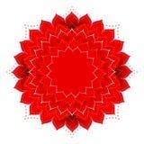 Oosterse vector rode mandala Royalty-vrije Stock Afbeeldingen
