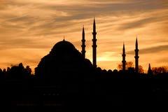 Oosterse zonsondergang Royalty-vrije Stock Foto
