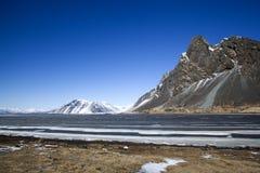 Oostkust van IJsland Stock Fotografie