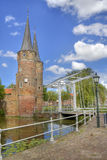 Oostpoort à Delft, Hollande Photo stock