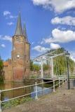Oostpoort à Delft, Hollande Photo stock