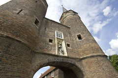 Oostpoort in Delft, Holland Royalty-vrije Stock Fotografie