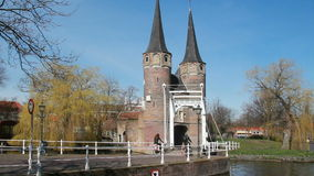 Oostpoort Gate, Holland stock footage