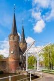 Oostpoort w Delft holandiach Zdjęcie Stock