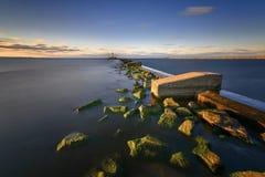 Oostzee bij mooi landschap Royalty-vrije Stock Foto's
