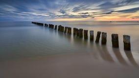 Oostzee bij mooi landschap, aard Royalty-vrije Stock Foto