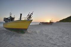 Oostzee bij mooi landschap UE Royalty-vrije Stock Foto's