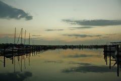 Oostzee in de avond Stock Fotografie