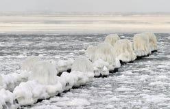 Oostzee in de winter Stock Foto