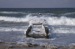 Oostzee in de winter Stock Afbeelding