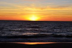 Oostzee en hemelaard stock foto