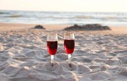 Oostzee en strand Royalty-vrije Stock Foto's