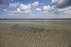 Oostzee op de het noordenkust van Duitsland Royalty-vrije Stock Foto