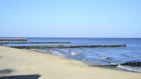 Oostzee in Polen, strand van Udine Morskje Stock Foto