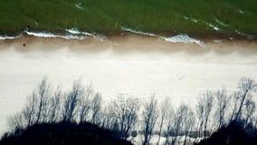Oostzee van een vogelperspectief stock videobeelden