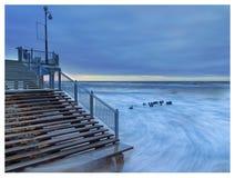 Oostzee, zonsondergang Royalty-vrije Stock Fotografie