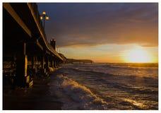 Oostzee, zonsondergang Stock Fotografie