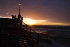 Oostzee, zonsondergang Stock Foto
