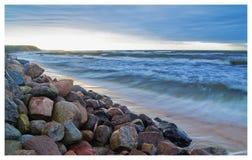 Oostzee, zonsondergang Stock Afbeeldingen
