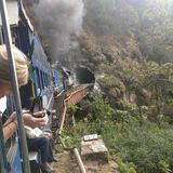 Ooty toy train, southern India stock photo