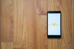 Oovoo στο smartphone Στοκ φωτογραφία με δικαίωμα ελεύθερης χρήσης