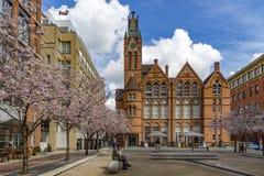 Oozellsvierkant - de stadscentrum het UK van Birmingham royalty-vrije stock afbeelding