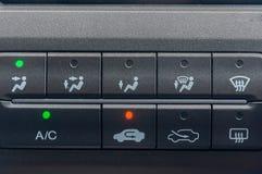 Opção do condicionador de ar dos carros Imagens de Stock Royalty Free