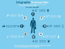 Opção do infographich do homem de negócio Imagens de Stock