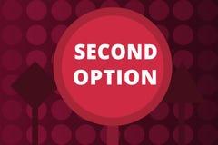 Opção do texto segundo da escrita da palavra Conceito do negócio para Fiddle Not seguinte uma oportunidade alternativa seguinte d ilustração stock