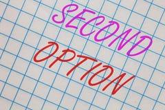 Opção do texto segundo da escrita da palavra O conceito do negócio para Fiddle Not seguinte um caderno alternativo seguinte da op ilustração stock