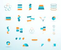 Opções ajustadas grandes da disposição do vetor dos elementos de Infographic fotografia de stock royalty free