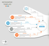 Opções de Infographic com mão abstrata imagem de stock