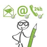 Opções do contato ilustração royalty free