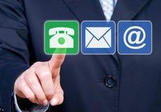 Opções do contato comercial Imagem de Stock Royalty Free
