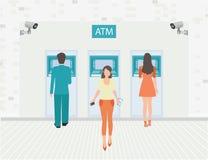 Opções do pagamento que depositam o dinheiro da finança Ilustração Royalty Free