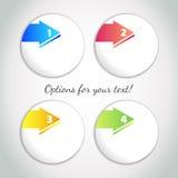 Opções do progresso/uns, dois, três, quatro opções com seta colorida Fotografia de Stock Royalty Free