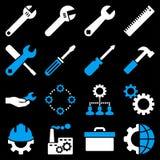Opções e grupo do ícone das ferramentas do serviço Fotografia de Stock Royalty Free