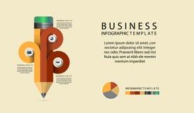 Opções infographic do molde da carta de Infographic do lápis fotos de stock royalty free