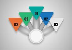 Opções modernas das bandeiras, dados do projeto do vetor do infographics Fotos de Stock