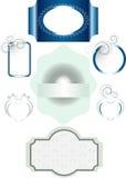 Opções para frames com decorações diferentes e Fotos de Stock Royalty Free